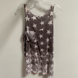Grey with White Stars Tank